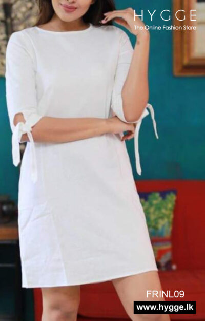 White Short Linen Dress Sri Lanka