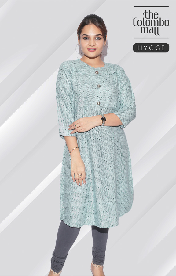three quarter sleeve plain color Kurtis top