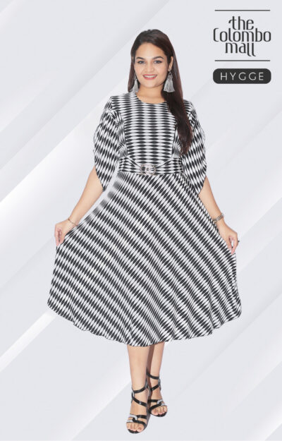 Bell Sleeve Fared Midi Dress