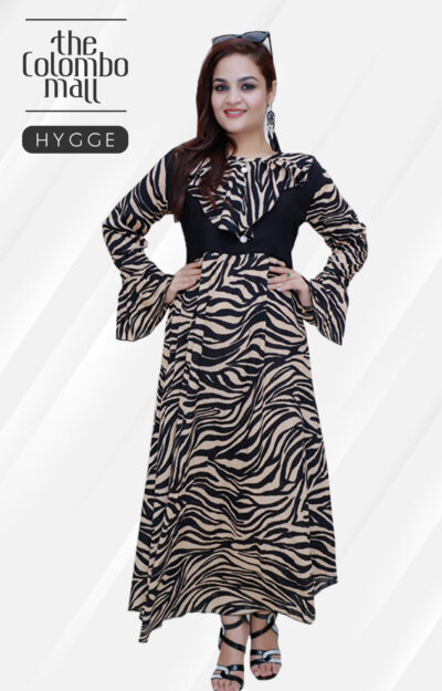 Long Sleeve Flared Maxi Women Dresses in Srilanka