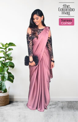 Party Wear Silk Satin Sarees Online - The Colombo Mall