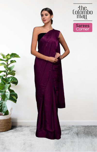 The Colombo Mall Adorning Magenta Colored Festive Wear Silk Satin Saree.jpg