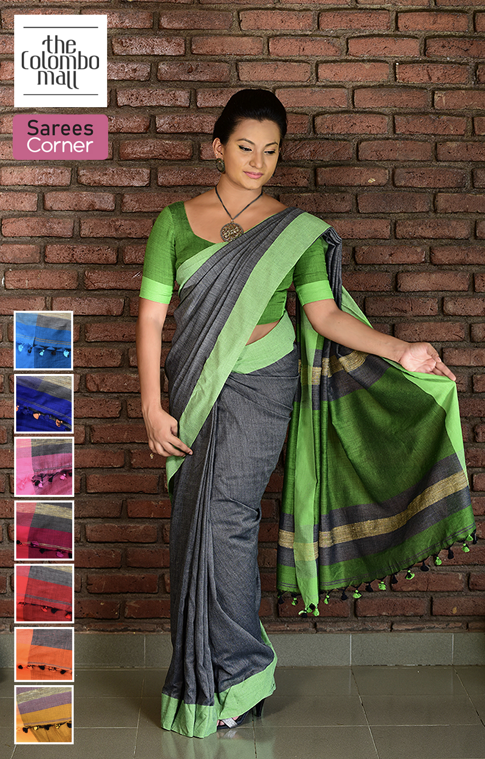 Colored Handloom Saree Sri Lanka