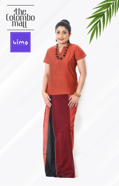Dark Coral Red Handloom Lungi Top Sri Lanka