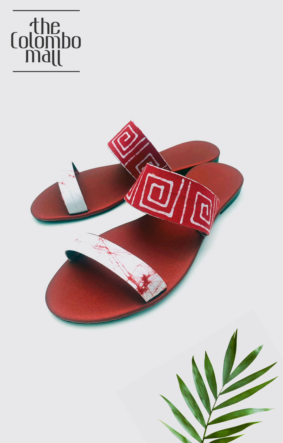 Dual Straped Red Color Ladies Shoes Sri Lanka