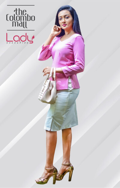 Office Wear Long Sleeve Pink Top Sri Lanka