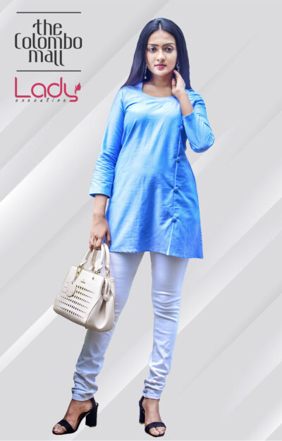 Office Wear Blue Kurti Top Sri Lanka