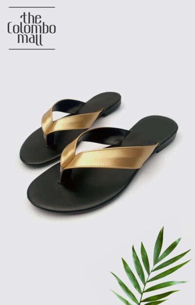 Gold Color Two Strap Ladies Shoes Sri Lanka