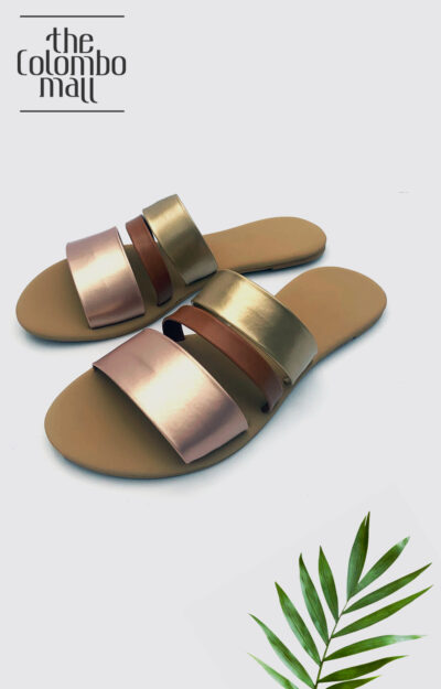 Gold Triple Strap Ladies Shoes Sri Lanka