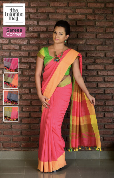 Multicolor Indian Handloom Saree Sri Lanka