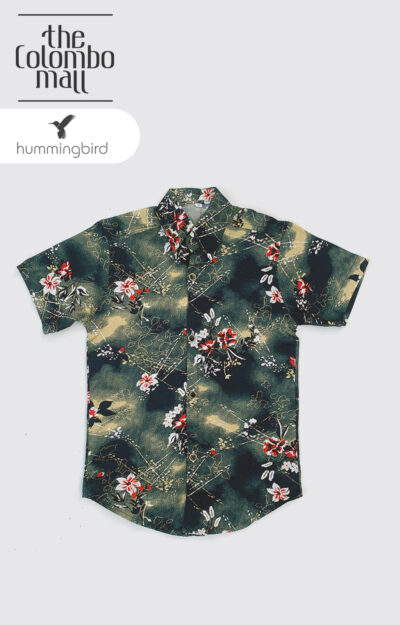 Kids Floral Printed Short Sleeves Shirt in Sri Lanka