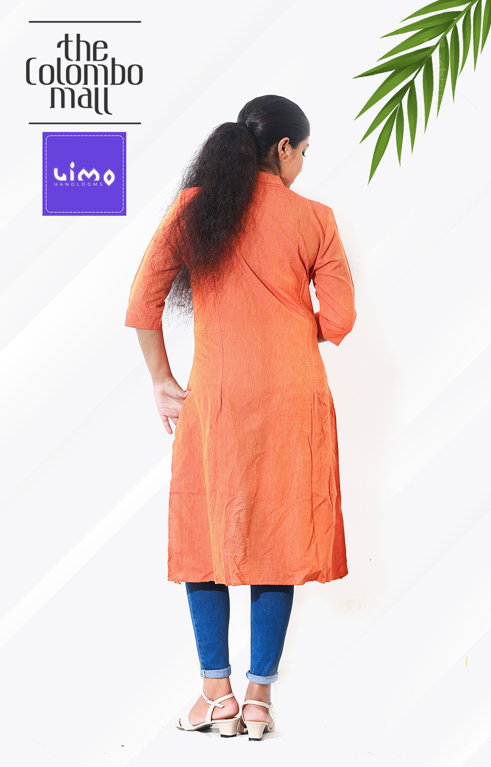 Light Orange Color Handloom Kurtis Top Sri Lanka