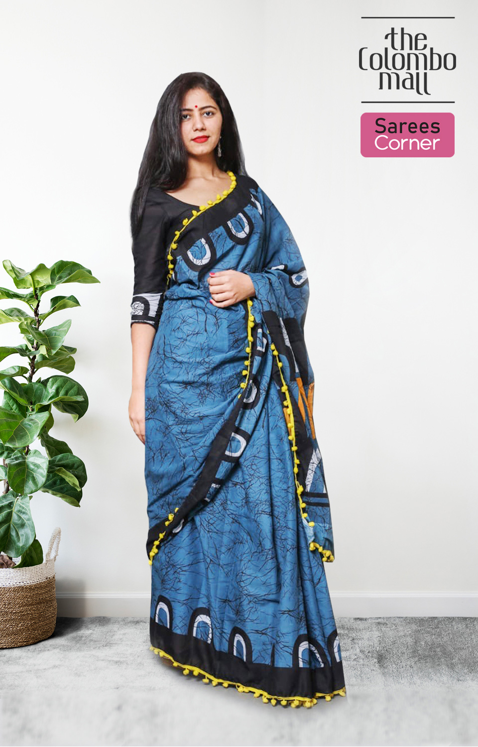 Matisse Blue Batik Saree New Collection in Sri lanka