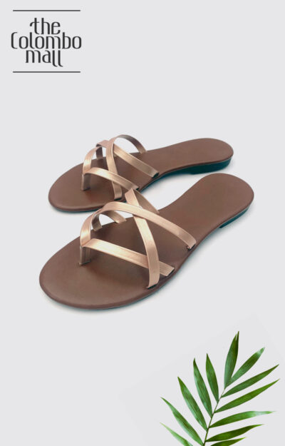 Mid Cross Dull Gold Ladies Shoes Sri Lanka