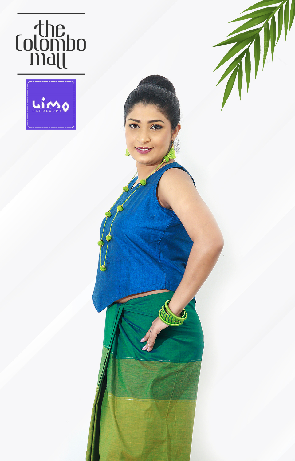 Navy Blue Handloom Top Sri Lanka