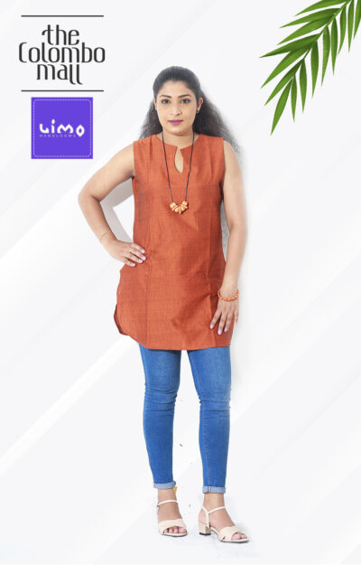 Orange Color Handloom Top in Sri Lanka
