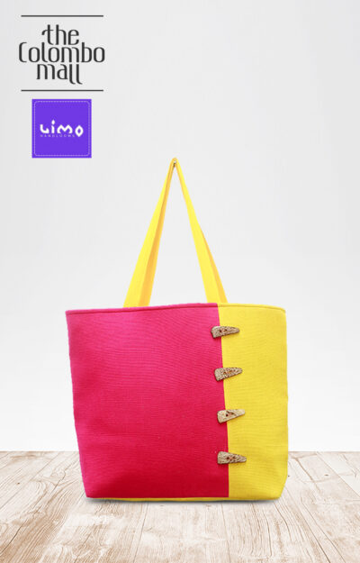 Two Tone Button Handbags Sri Lanka