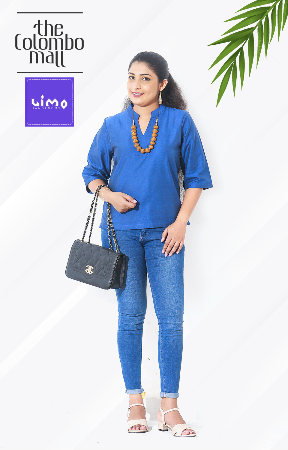 Royal Blue Handloom Top Sri Lanka