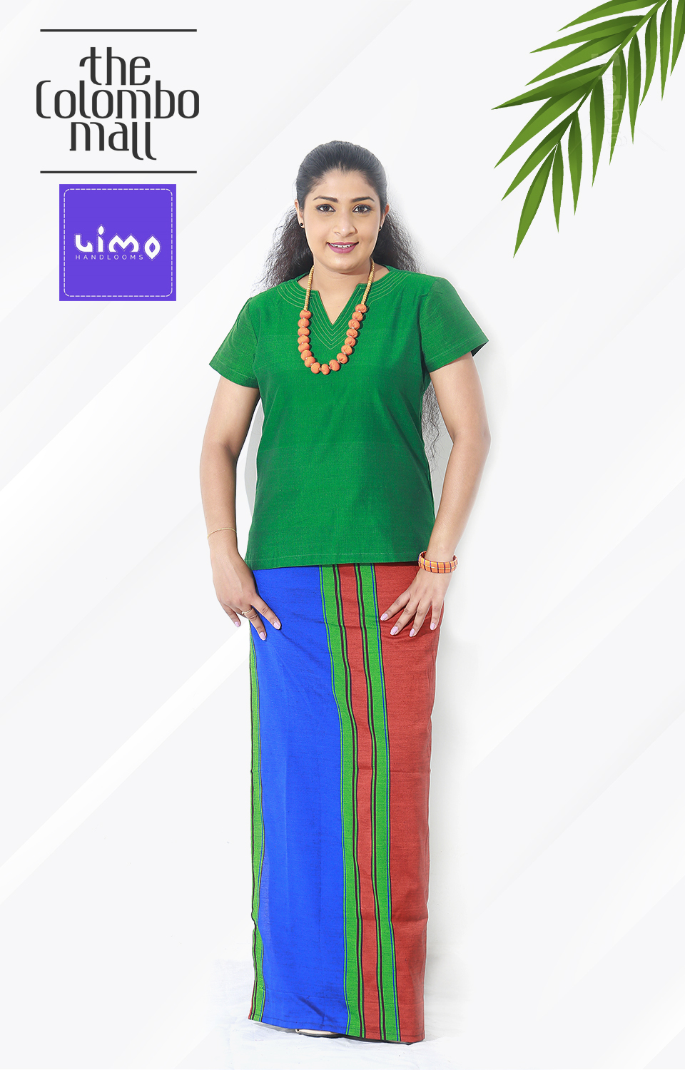 Shamrock Green Handloom Lungi Top Sri Lanka