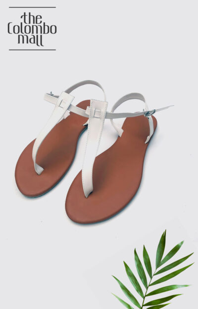 White Color Anke Strap Ladies Shoes Sri Lanka