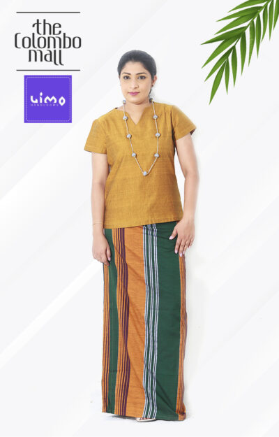Yellow Color Handloom Lungi Top Sri Lanka
