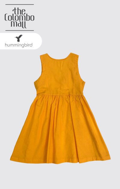 Yellow Solid Color Girl Dress Sri Lanka