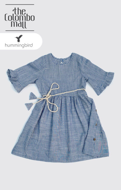 Blue White Stripped Girl Dress Sri Lanka