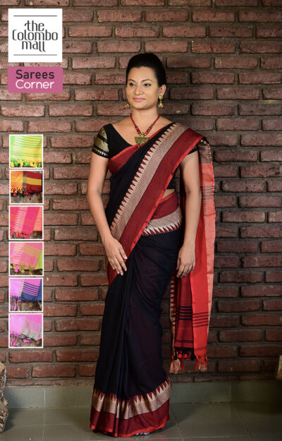 Golden Border Handloom Saree Sri Lanka