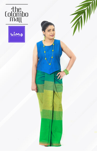 Yellow And Green Shaded Lungi Dress in Sri Lanka
