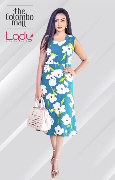 Decorative Office Wear Floral Dress Sri Lanka