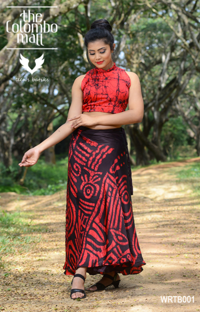 Silk Batik Wraparound with Crop Top Sri Lanka