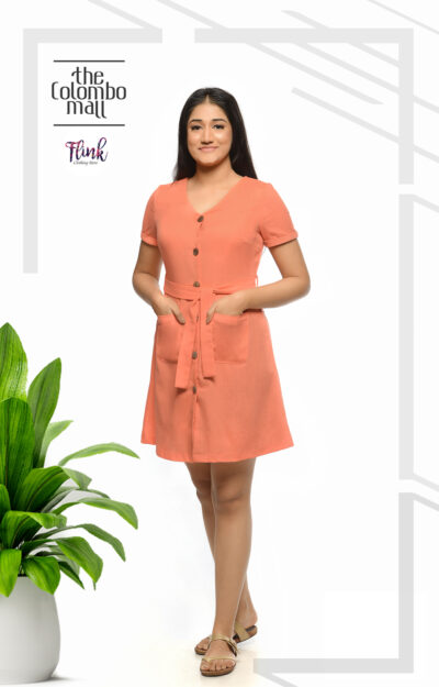 Summer Fling Aline Linen Dress Office Wear Sri Lanka