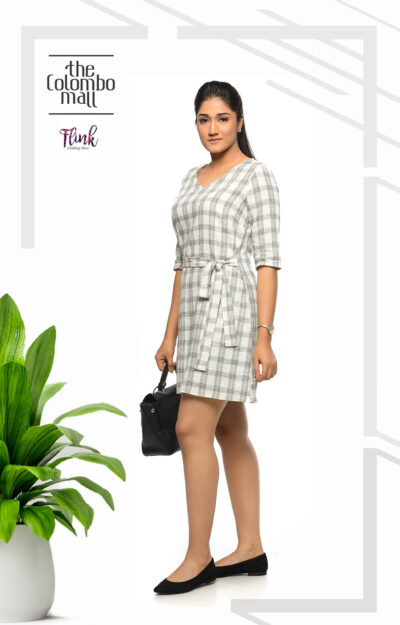 Black Checkered Knot Office Wear Sri Lanka