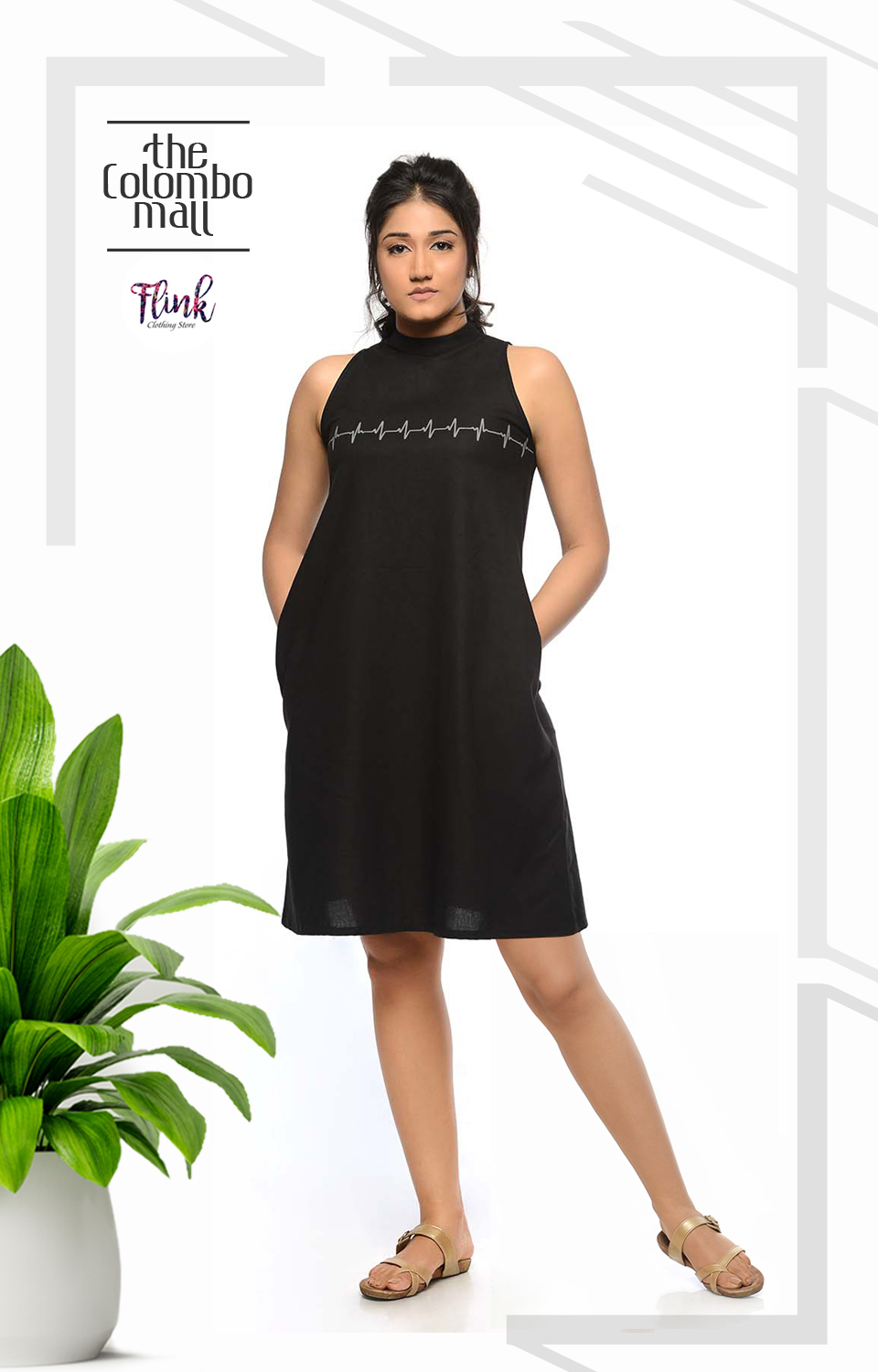 Black Pulse Dress Office Wear Sri Lanka