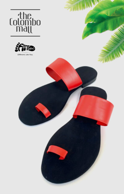 Red & Black toe-loop Ladies Shoes Sri Lanka
