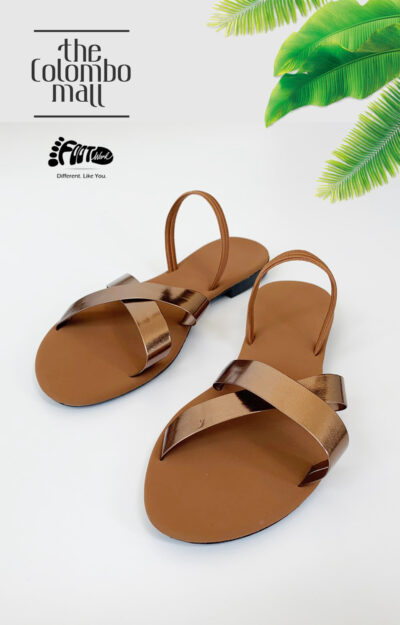 Shine Bronze & Tan Ladies Shoes Sri Lanka