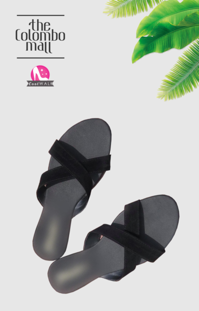 Black Strap Slide-on Ladies Sandal Sri Lanka