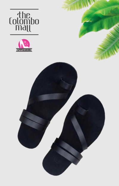 Black Multi Strap Ladies Sandal Sri Lanka
