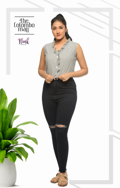 Grey V-Neck Top Sri Lanka