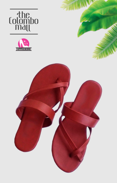 Maroon Cross Toe Ladies Sandal Sri Lanka