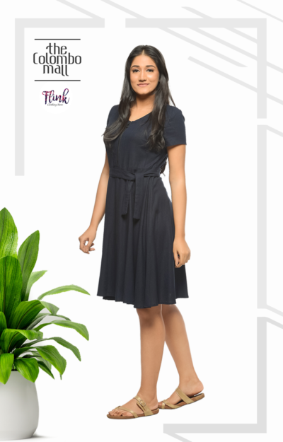 Navy Blue Linen Dress Sri Lanka