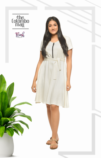 Off-White Linen Dress Sri Lanka