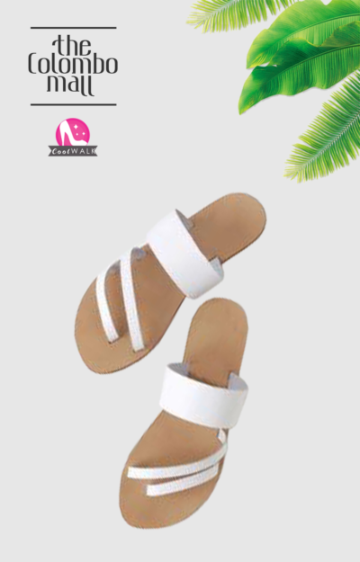 Three Stripes White Ladies Sandal Sri Lanka