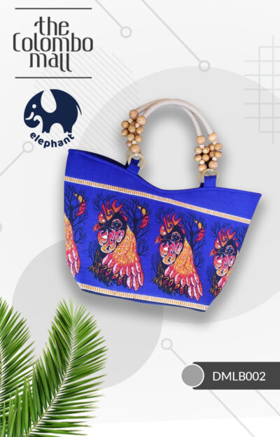 Dark Blue Batik Fabric Handbag