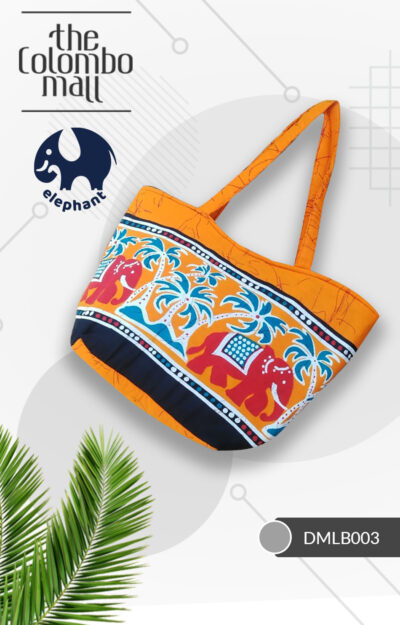 Orange Batik Fabric Handbag Sri Lanka