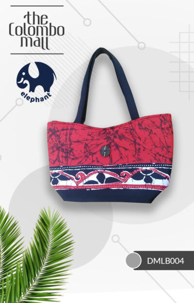 Red Handmade Batik Fabric Handbag