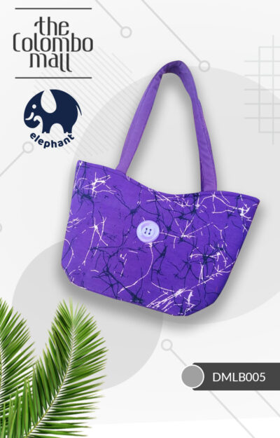 Purple Color Handmade Batik Fabric Handbag