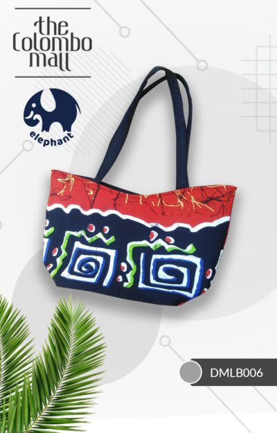 Blue & Red Color Handmade Batik Fabric Handbag