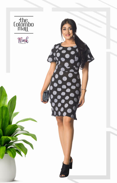 Black Polka Cotton Dress