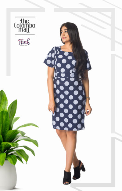 Blue Polka Cotton Dress